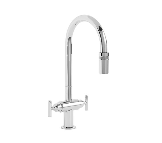 Abode Avior Chrome Pull Out Kitchen Mixer Tap