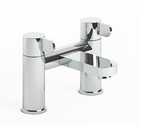 Abode Bliss Deck Mounted Chrome Bath Filler Tap - AB1457