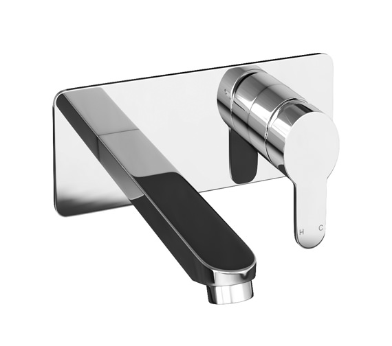 Abode Debut Wall Mounted Chrome Basin Mixer Tap - AB1554