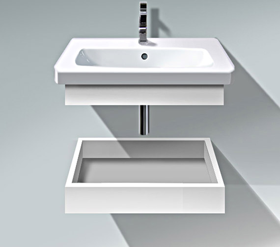Duravit DuraStyle 580mm Shelf With Trim And Basin - DS618001818