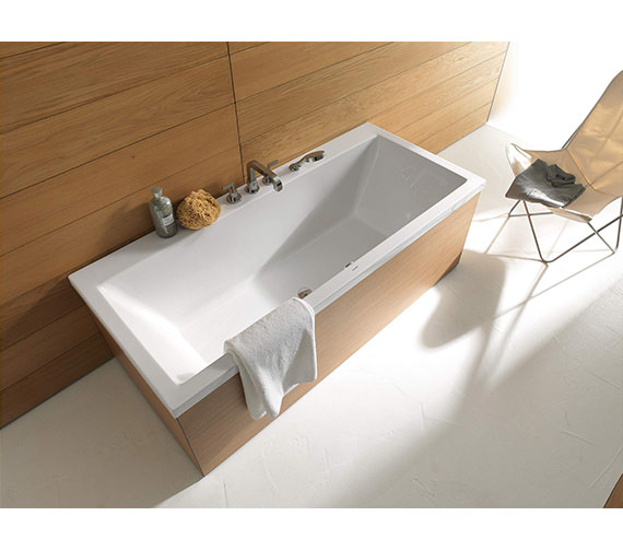 Additional image of Duravit Vero 1700 x 700mm Rectangle Bath With Right Slope Backrest - 700132