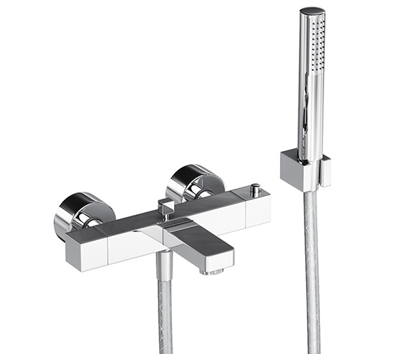 Abode Fervour Thermostatic Wall Mounted Bath Shower Mixer Tap - AB1247