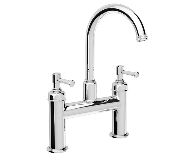 Abode Gallant Deck Mounted Bath Filler Tap Chrome - AB1707