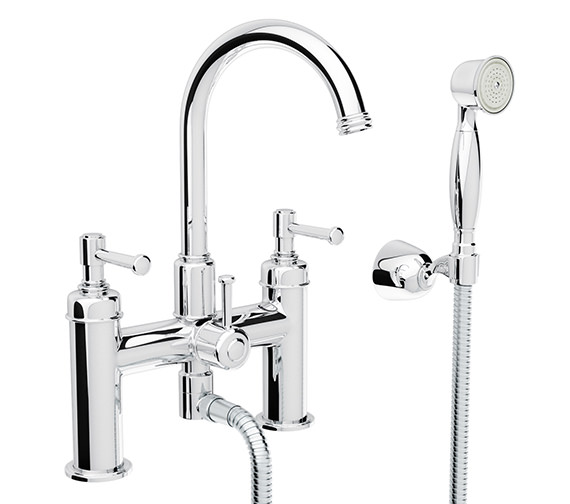 Abode Gallant Bath Shower Mixer Tap With Handset - AB1708
