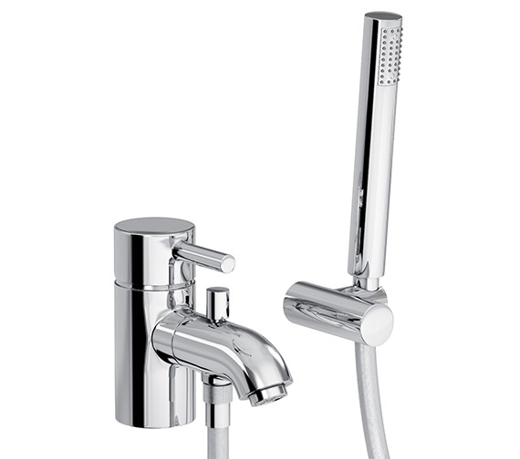 Abode Harmonie Single Lever Bath Filler Tap With Shower Diverter