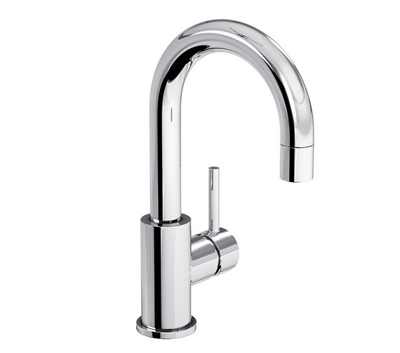 Abode Harmonie Swan Neck Single Lever Basin Mixer Tap - AB1191