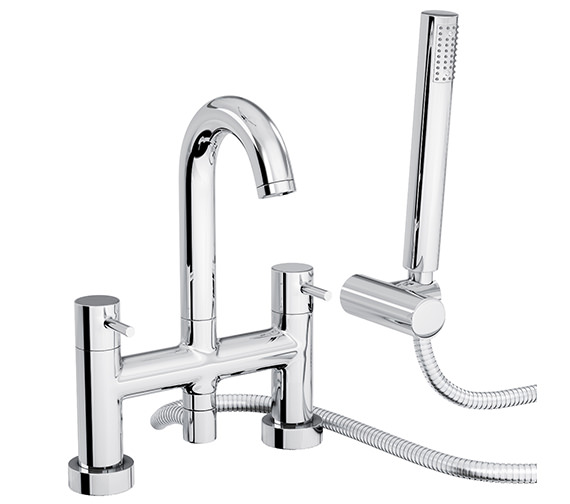 Abode Harmonie Deck Mounted Bath Shower Mixer Tap - AB1186