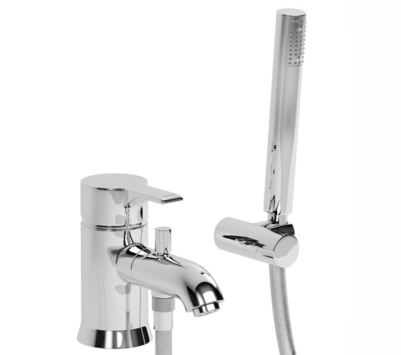 Abode Passion Single Lever Bath Filler Tap With Shower Diverter