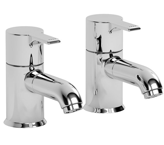 Abode Passion Basin Pillar Taps - AB1151