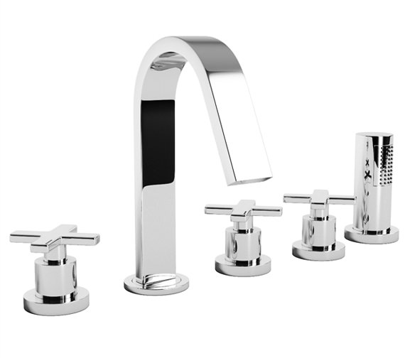 Abode Serenitie Bath Filler Tap With Shower And Diverter - AB1070