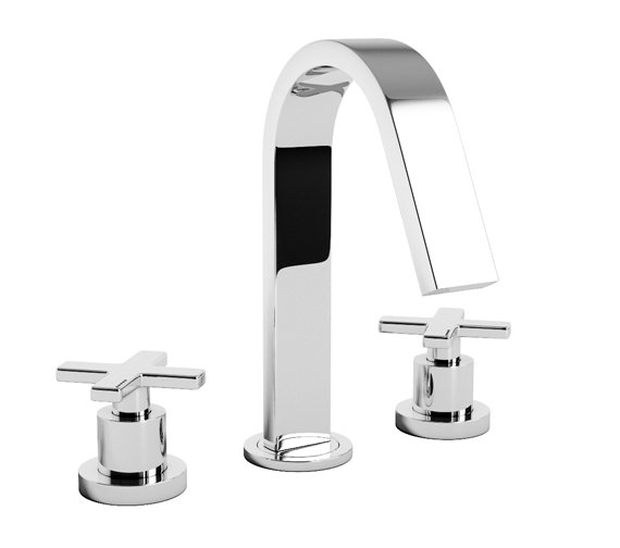 Abode Serenitie 3 Piece Deck Mounted Bath Filler Tap - AB1068
