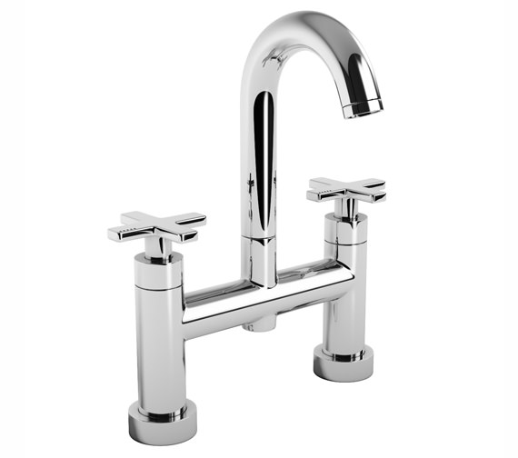 Abode Serenitie Deck Mounted Bath Filler Tap With Swan Spout - AB1064