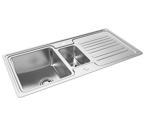 Abode Apex 1.5 Bowl Reversible Kitchen Sink - AW5048