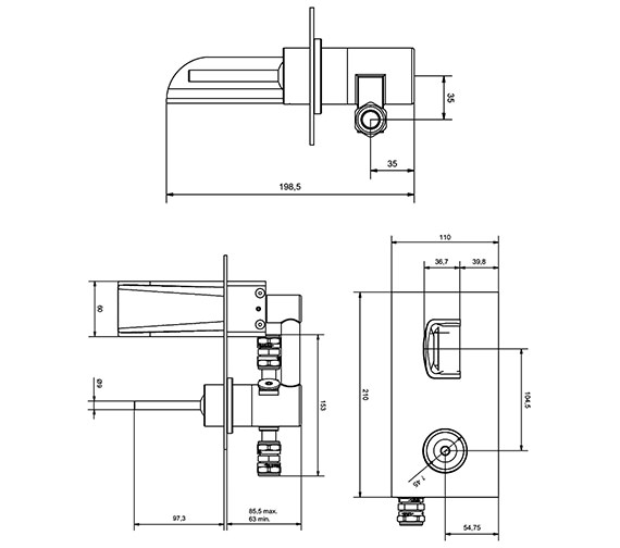 Technical drawing QS-V9999026 / LM121WC