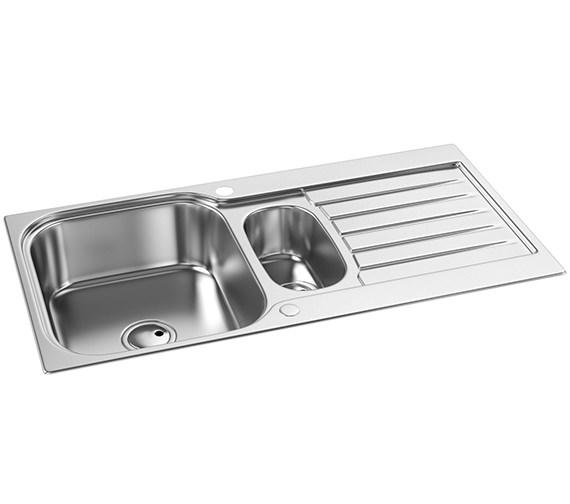 Abode Arka 1.5 Bowl Reversible Kitchen Sink AW5050