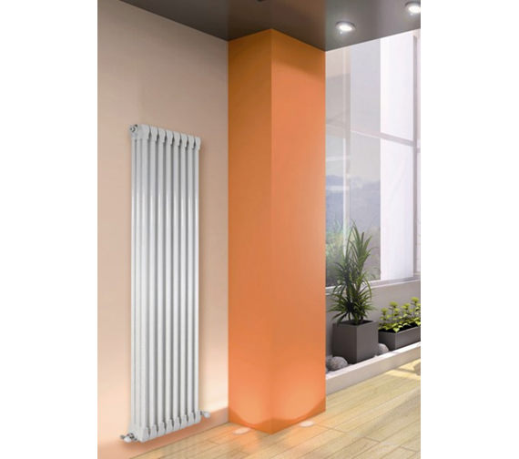 Apollo Monza Vertical 1270mm Height 3 Column Aluminium Radiator