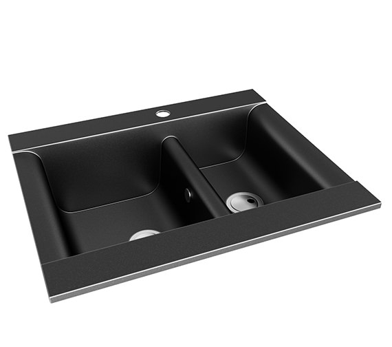Abode Aspekt 1.5 Bowl 636mm x 540mm Reversible Kitchen Sink - AW3003