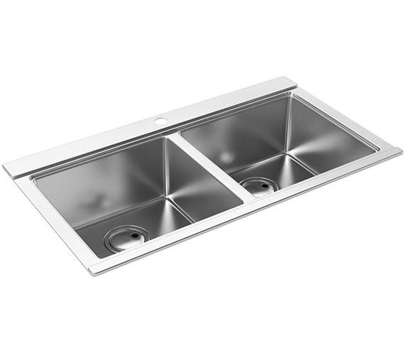 Abode Logik Two Bowl Kitchen Sink - AW5022