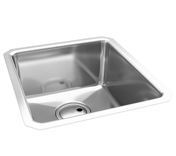 Abode Matrix R25 1.0 Bowl Kitchen Sink 390 x 450mm - AW5002