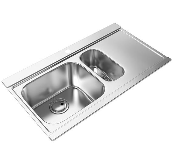 Abode Maxim 1.5 Bowl Kitchen Sink - AW5035 - AW5036