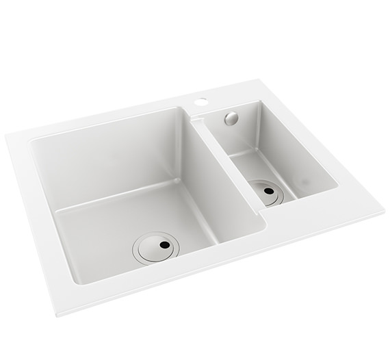 Abode Zero 1.5 Bowl Reversible Kitchen Sink