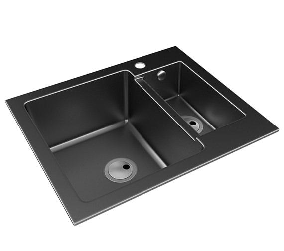 Additional image of Abode Zero 1.5 Bowl Reversible Kitchen Sink