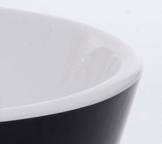 Additional image of Royce Morgan Black Freestanding Bath 1650 x 735mm