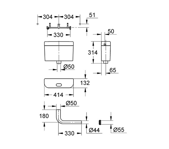 Technical drawing QS-V55838 / 37762SH0