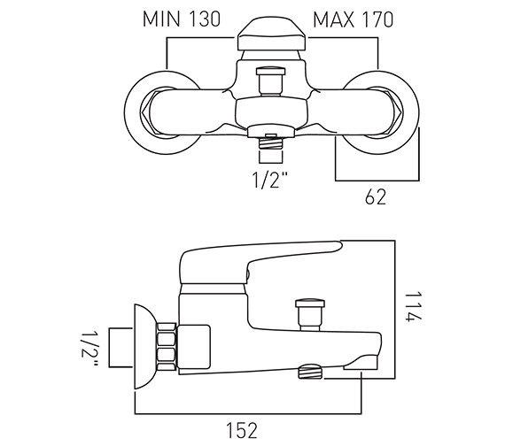 Technical drawing QS-V37327 / CHE-123-C/P