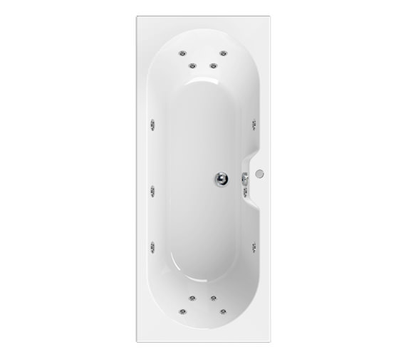 Aquaestil Calisto 1700x700mm 14 Jets Corner Whirlpool Bath