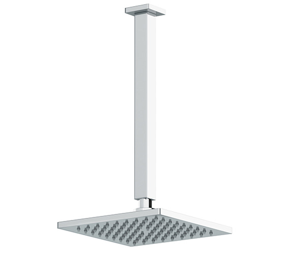 Abode Euphoria Square Roof Mounted Showerhead Kit - AB2402