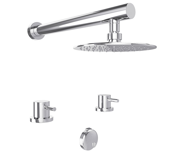 Abode Harmonie Thermostatic 2TH Bath Overflow Filler Kit And Shower