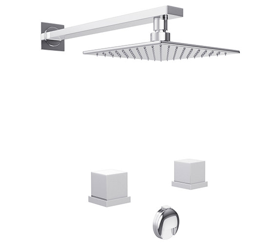 Abode Zeal Thermostatic 2 Hole Bath Overflow Filler Kit - AB3088