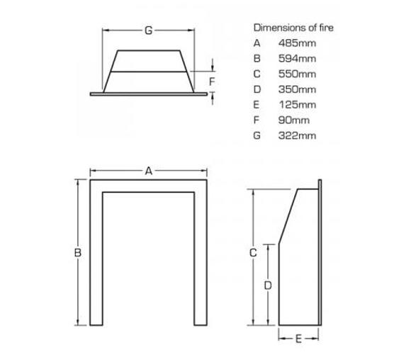 Technical drawing QS-V39765 / FSPC12MN