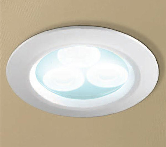 HIB Cool White LED White Showerlight - 5740
