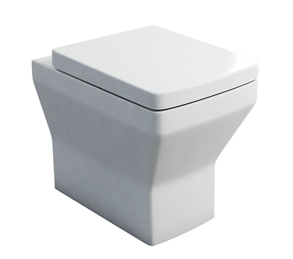 Britton Cube S20 Back To Wall WC Pan And Carbamide Soft Close Seat