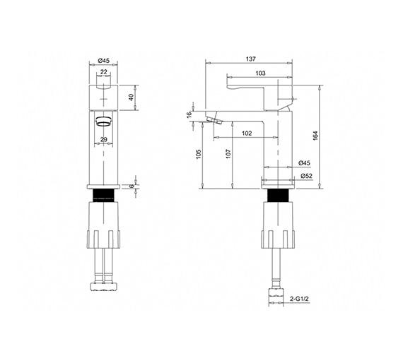 Technical drawing QS-V26507 / CTA1
