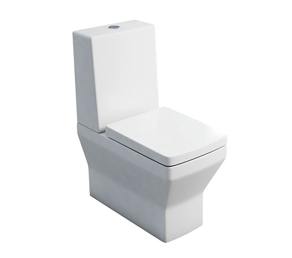 Britton Cube S20 Close Coupled Pan With Cistern - Lid - Soft Close Seat