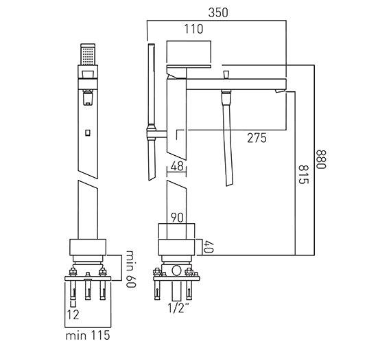 Technical drawing QS-V58612 / NOT-133+K-C/P