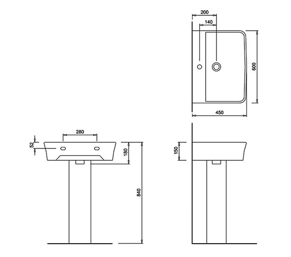 Technical drawing QS-V73809 / 401973