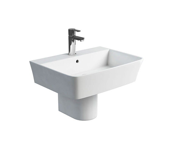 Additional image of Britton Fine S40 White Basin 600mm With Round Full Pedestal