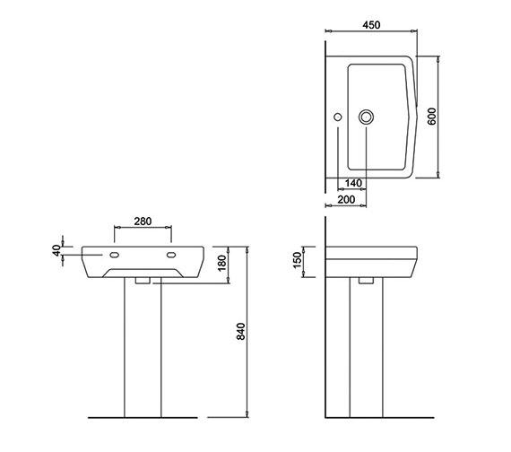 Technical drawing QS-V73821 / 201955