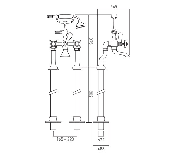 Technical drawing QS-V58703 / WEN-133+K-C/P