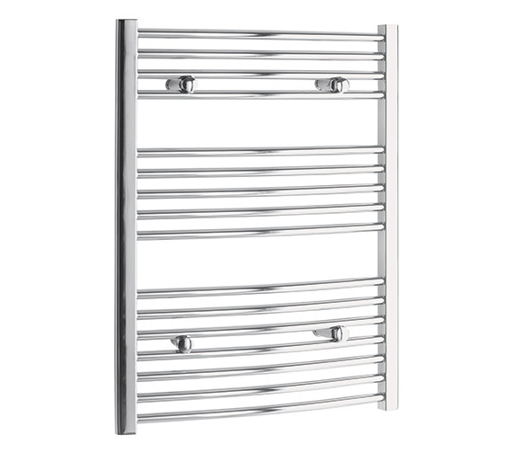 Tivolis Curved 700 x 600mm Chrome Towel Rail - CURCR7060