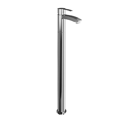 Britton Sapphire Single Lever Bath Filler Tap With Floor Mounting Legs