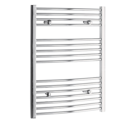 Tivolis Curved 700 x 800mm Chrome Towel Rail - CURCR7080