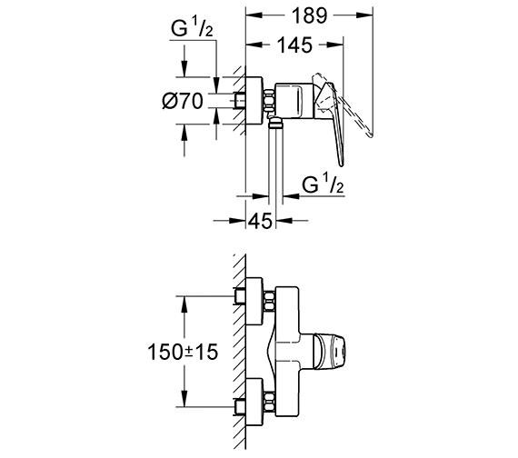 Technical drawing QS-V28454 / 33577002
