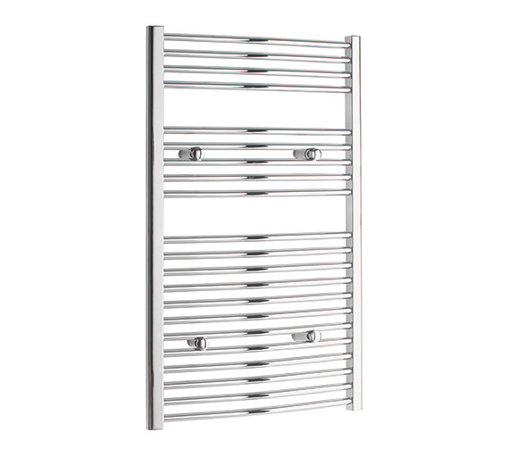 Tivolis Curved 700 x 1000mm Chrome Towel Rail - CURCR70100
