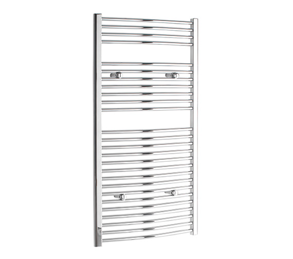 Tivolis Curved 300 x 1200mm Chrome Towel Rail - CURCR30120