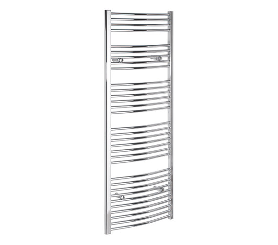 Tivolis Curved 400 x 1600mm Chrome Towel Rail - CURCR40160